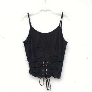 f622d23067b30e Topshop Tops - Topshop NWOT Black Lace Up Tank Top